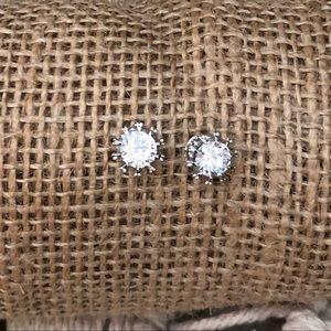 Jewelry - White Gold Swarovski Crystal Studs